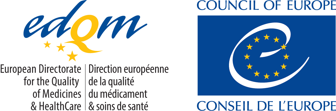 COE logo and EDQM Bilingual colour